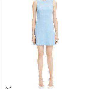 THEORY Baby Blue Wool Shift Dress 8P Petite